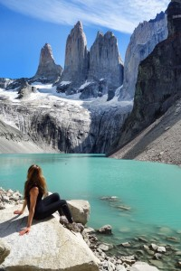 Torres Del Paine.  One of the many highlights of the W circuit, a 4 day hike in Patagonia